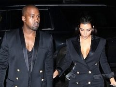Ce pereche! Kim Kardashian si Kanye West, in tinute asortate. Hot or Not?
