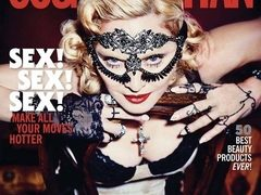 Madonna pe coperta aniversara Cosmopolitan - Make-up by Intraceuticals!