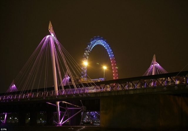 London in pink